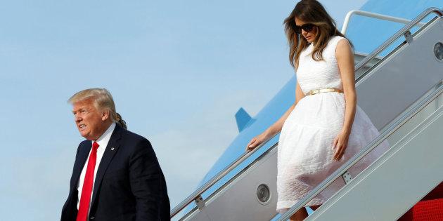 Trump ancora una volta lascia sua moglie indietro
